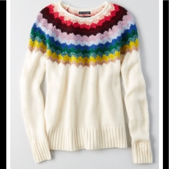 c28d6add1c3 American Eagle Outfitters Sweaters - AEO AHH-MAZINGLY SOFT rainbow pullover  sweater